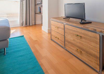 Interiorismo Vivienda Durango mueble televisión