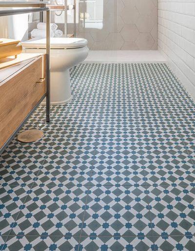 Interiorismo Vivienda Durango suelo cuarto de baño