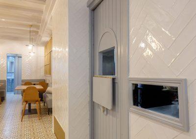 Interiorismo Bar la Herrería detalle zona cocina
